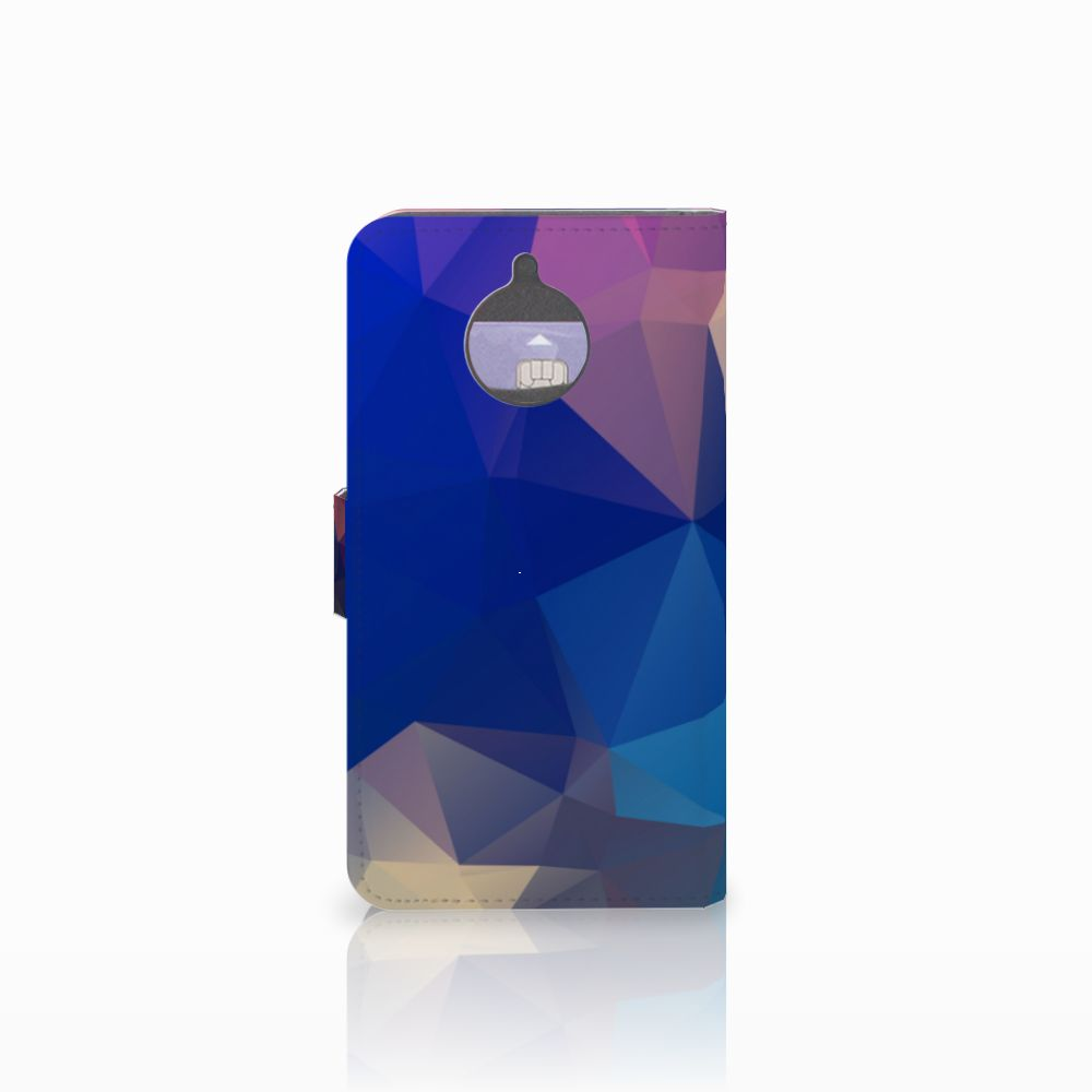 Motorola Moto E4 Plus Bookcase Polygon Dark