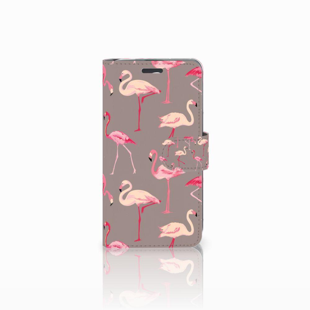 Acer Liquid Z520 Uniek Boekhoesje Flamingo