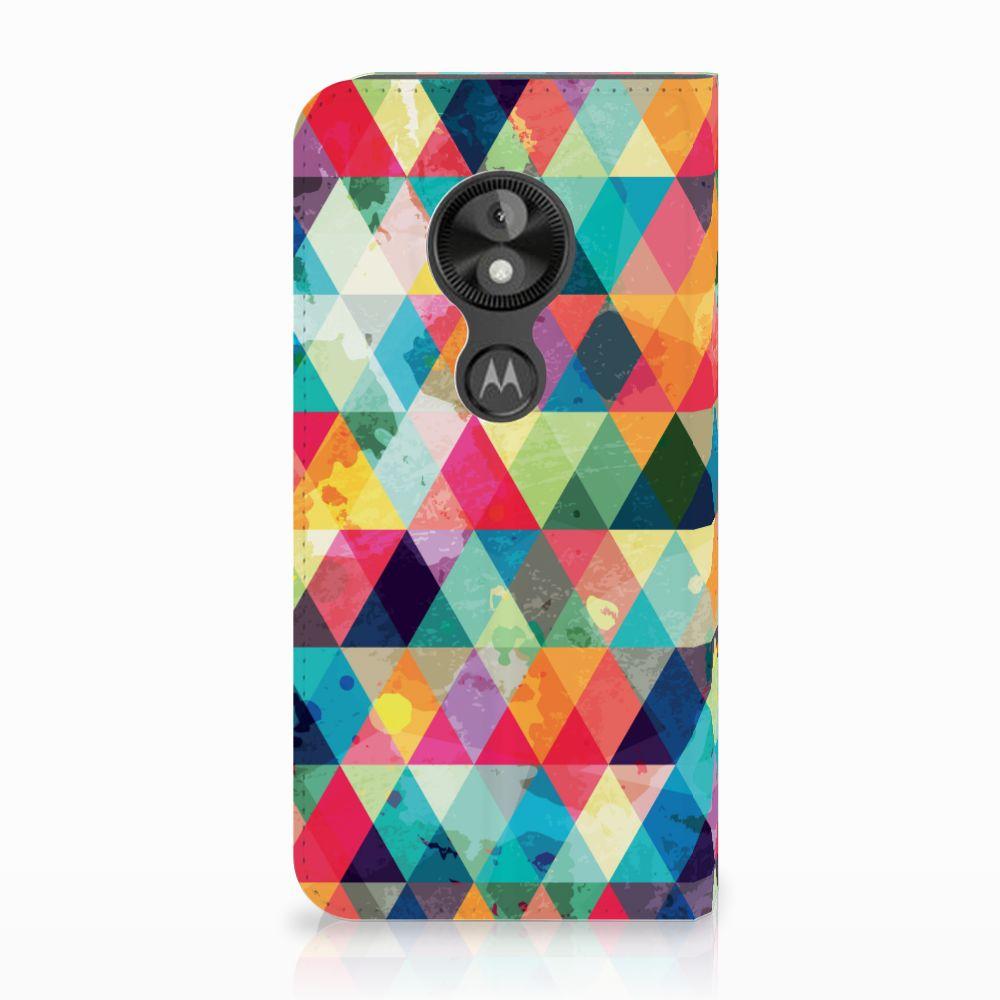 Motorola Moto E5 Play Uniek Standcase Hoesje Geruit