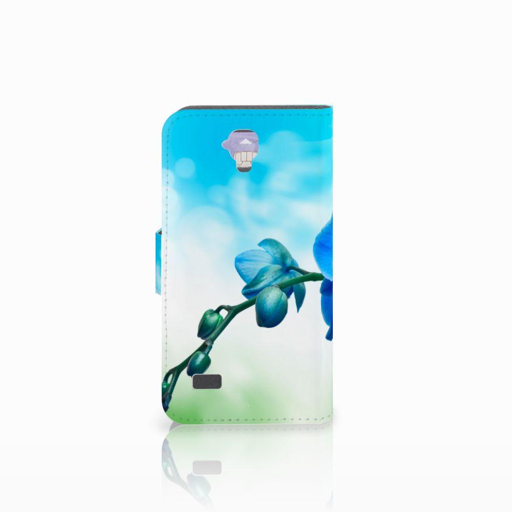 Huawei Y5 Y560 Hoesje Orchidee Blauw