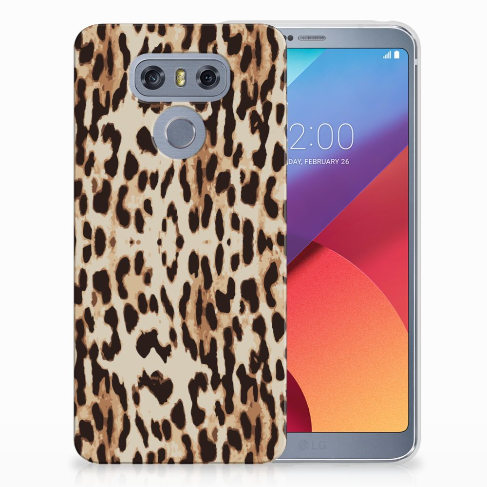 LG G6 Uniek TPU Hoesje Leopard