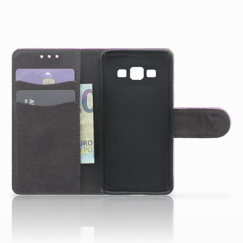 Wallet Case Samsung Galaxy A3 2015 Barok Roze