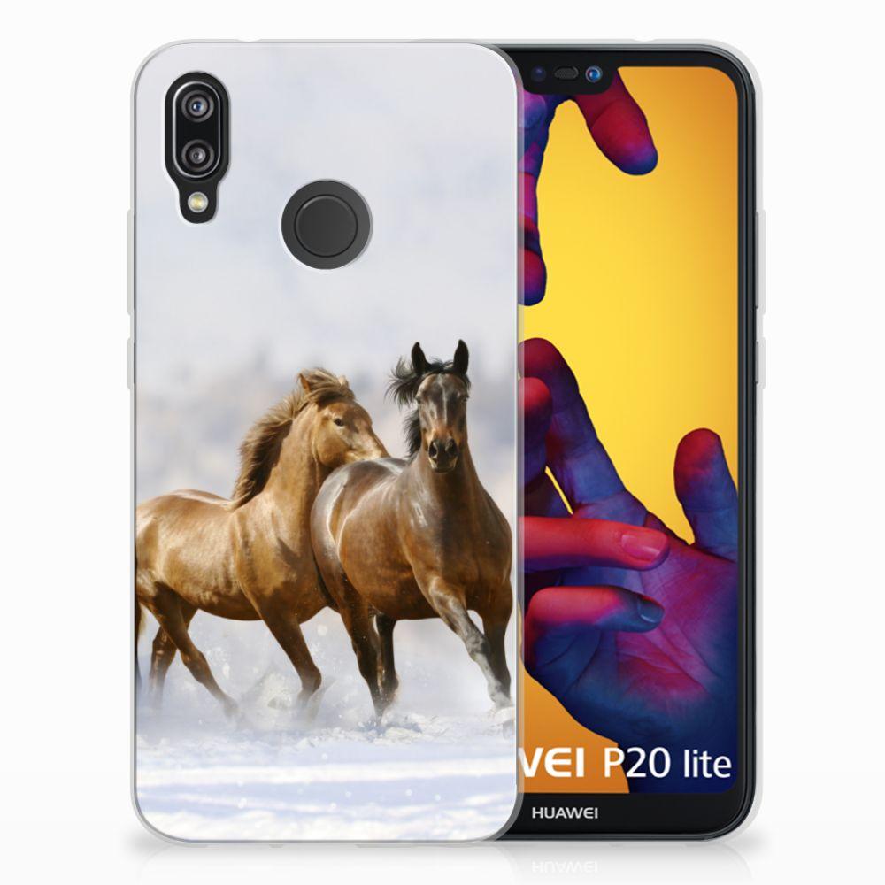 Huawei P20 Lite TPU Hoesje Paarden