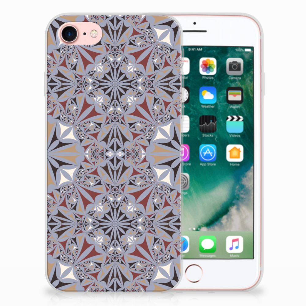 Apple iPhone 7 | 8 TPU Siliconen Hoesje Flower Tiles