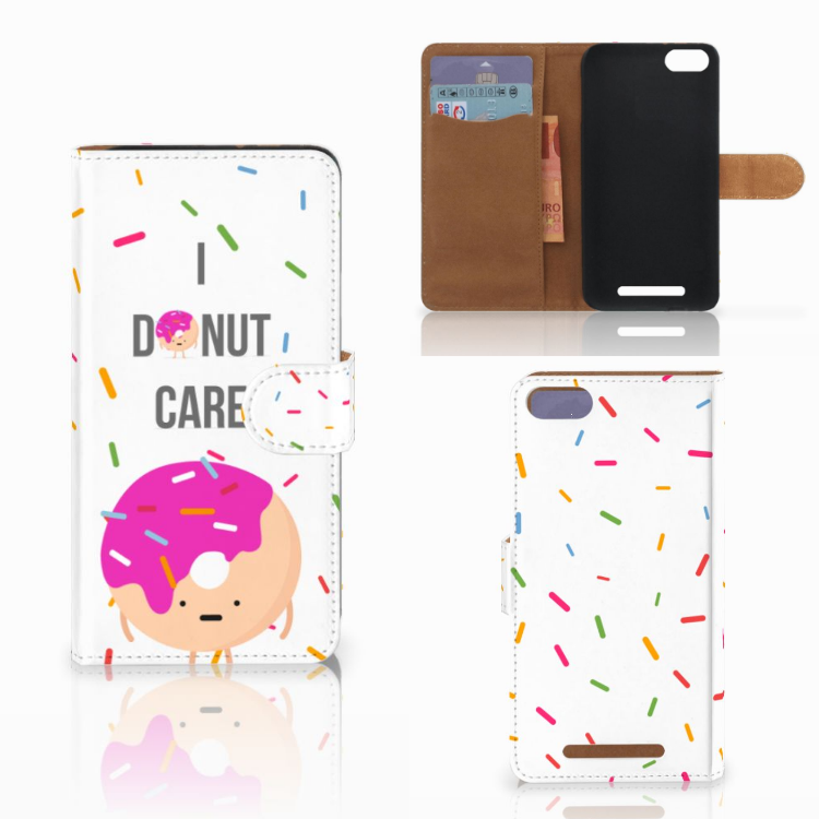 Wiko Lenny 3 Book Cover Donut Roze