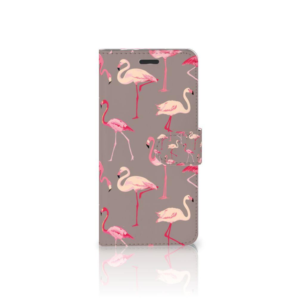 Motorola Moto Z Uniek Boekhoesje Flamingo