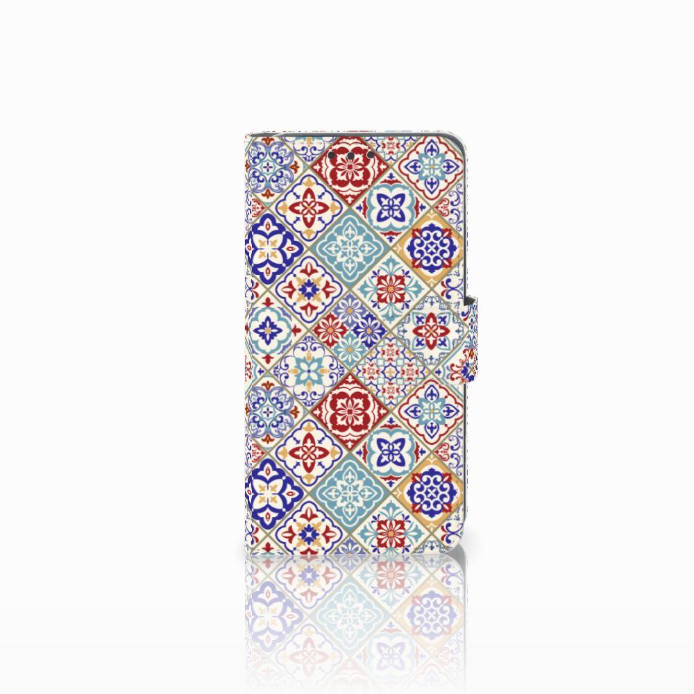 Huawei Y5 2 | Y6 II Compact Uniek Boekhoesje Tiles Color