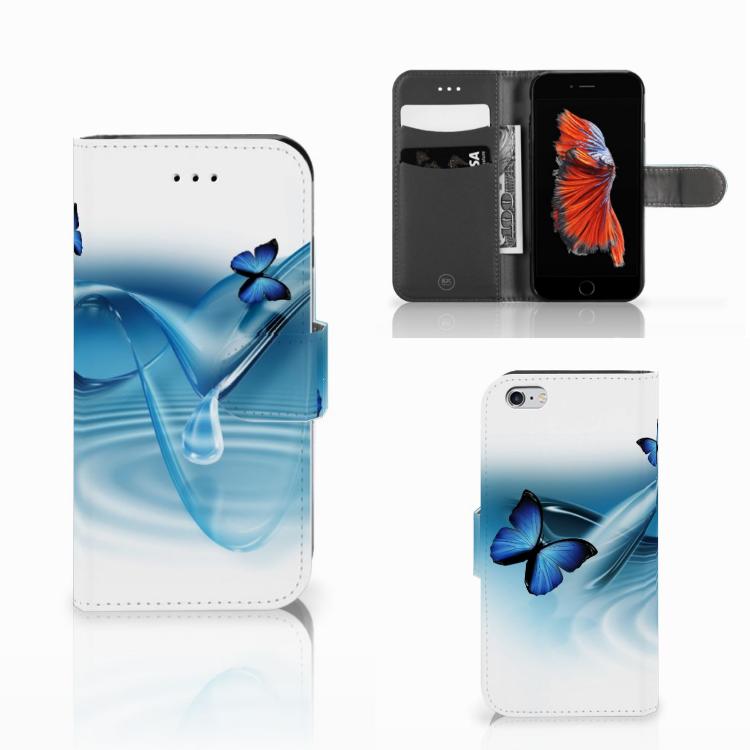 Apple iPhone 6 | 6s Telefoonhoesje met Pasjes Vlinders