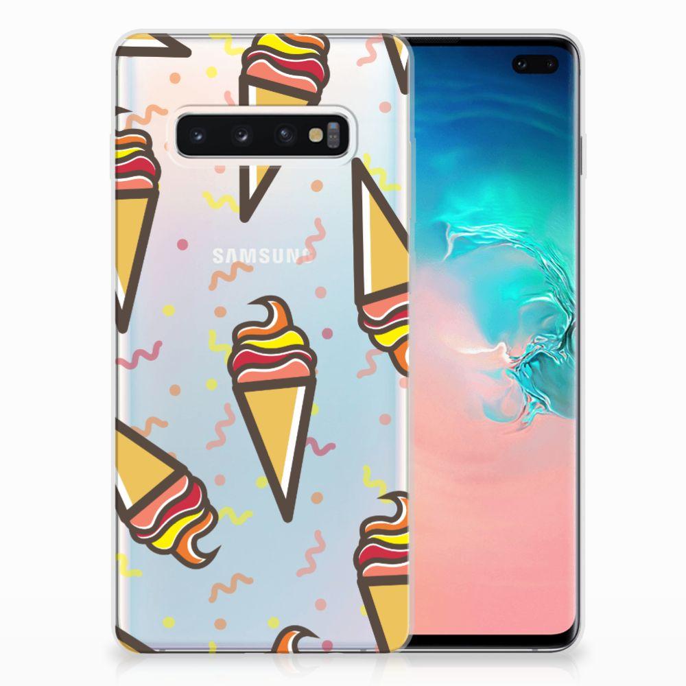 Samsung Galaxy S10 Plus Siliconen Case Icecream