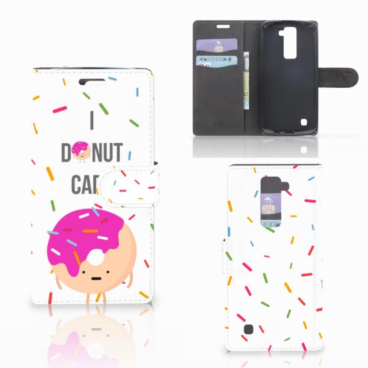 LG K10 2015 Book Cover Donut Roze