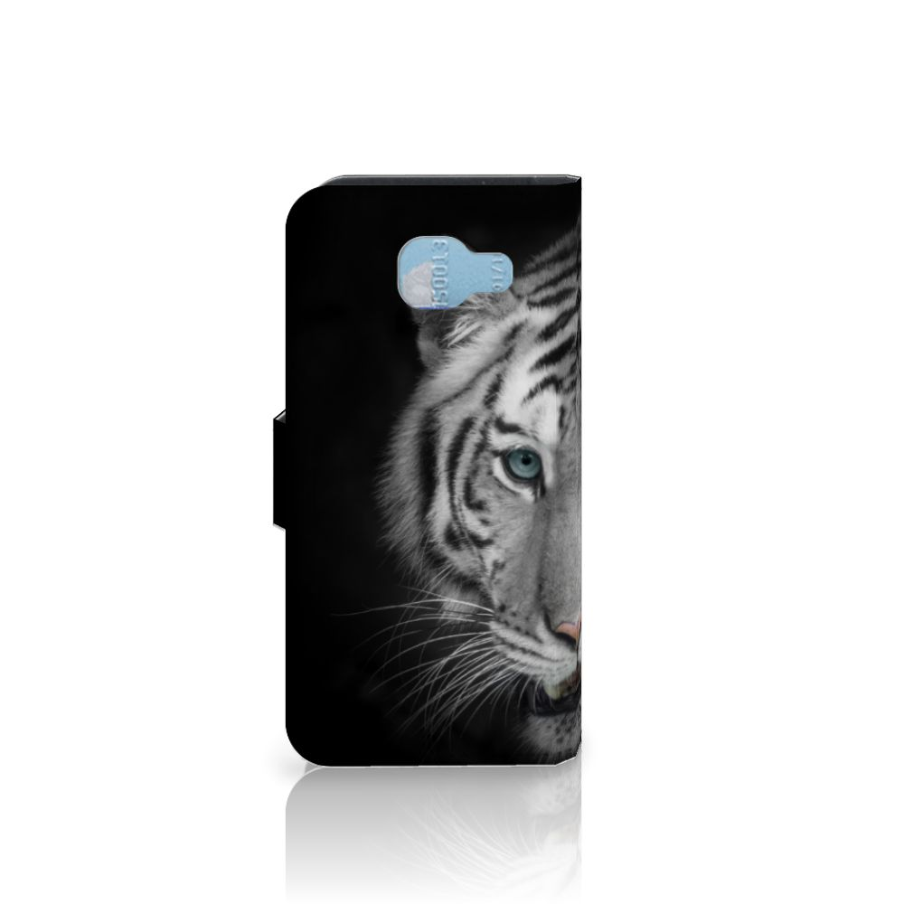 Samsung Galaxy A5 2016 Telefoonhoesje met Pasjes Tijger