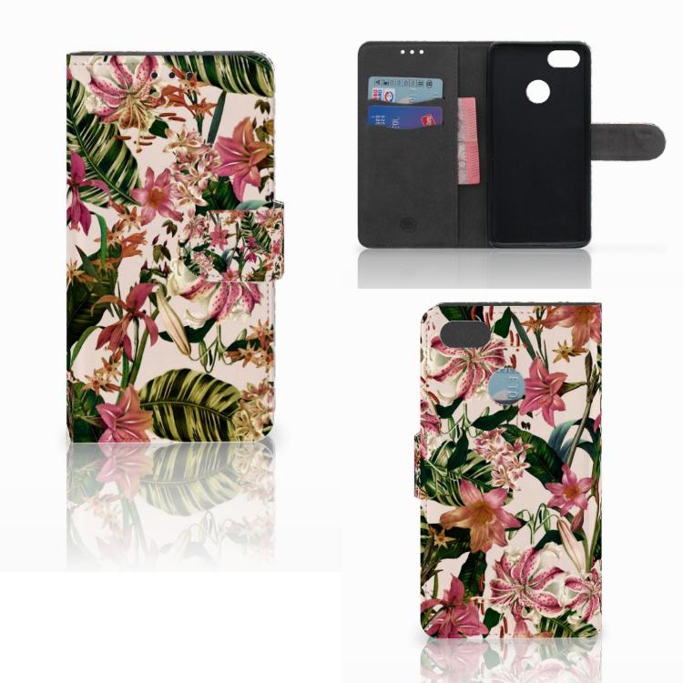 Huawei Y6 Pro 2017 Hoesje Flowers