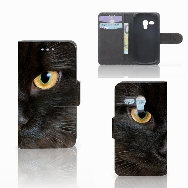 Samsung Galaxy S3 Mini Telefoonhoesje met Pasjes Zwarte Kat