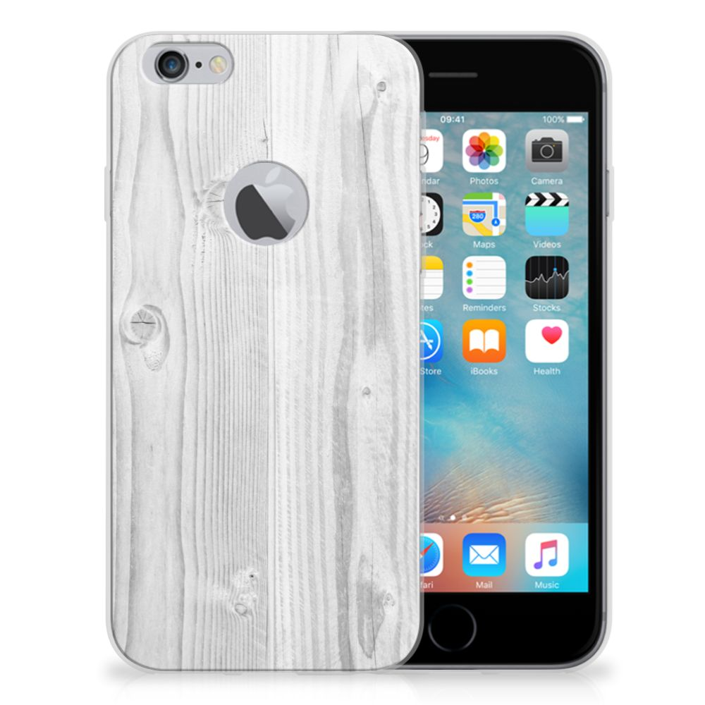 Apple iPhone 6 Plus   6s Plus Bumper Hoesje White Wood