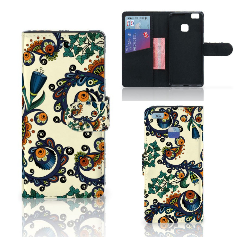 Wallet Case Huawei P9 Lite Barok Flower