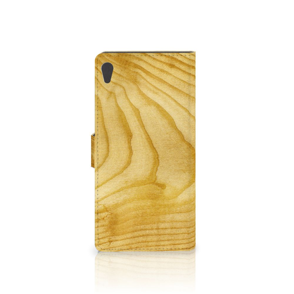 Sony Xperia XA Ultra Book Style Case Licht Hout