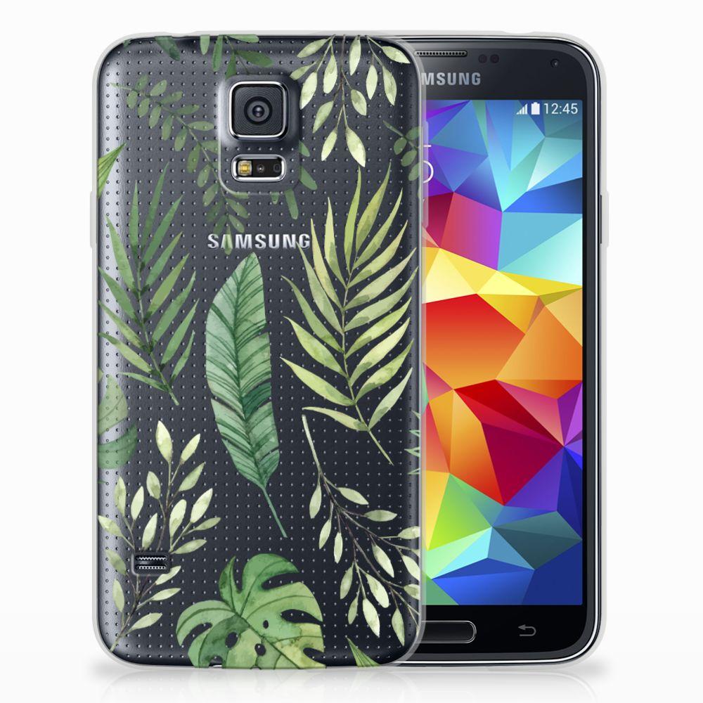 Samsung Galaxy S5 Uniek TPU Hoesje Leaves