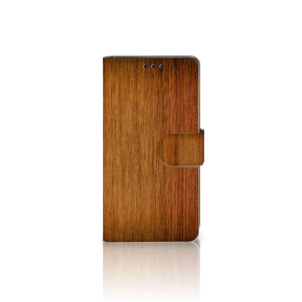 Sony Xperia Z5 | Z5 Dual Uniek Boekhoesje Donker Hout