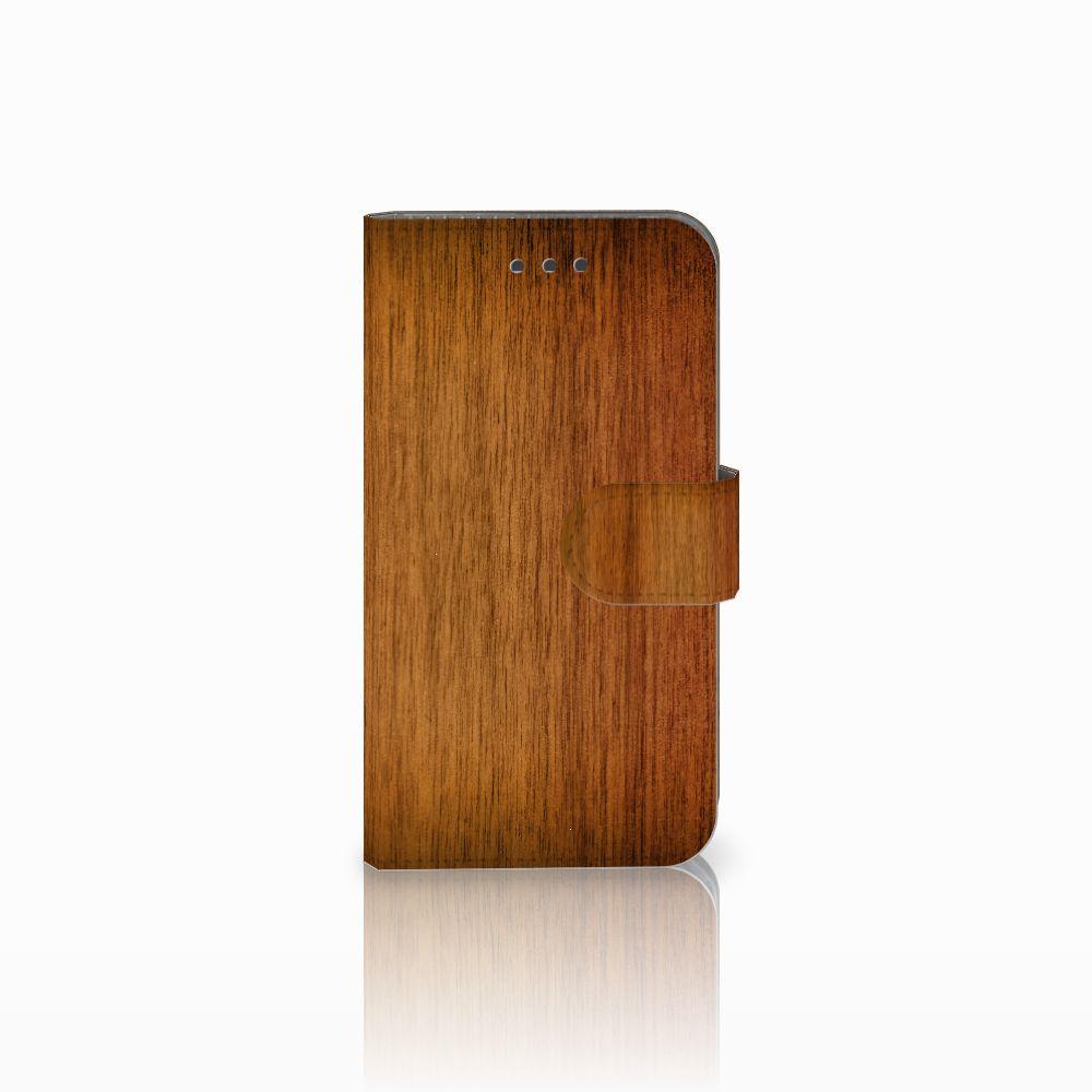 Samsung Galaxy Xcover 3 | Xcover 3 VE Uniek Boekhoesje Donker Hout