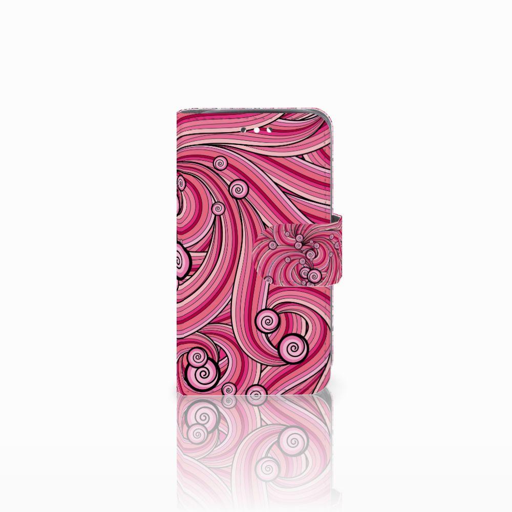 Huawei Y360 Uniek Boekhoesje Swirl Pink
