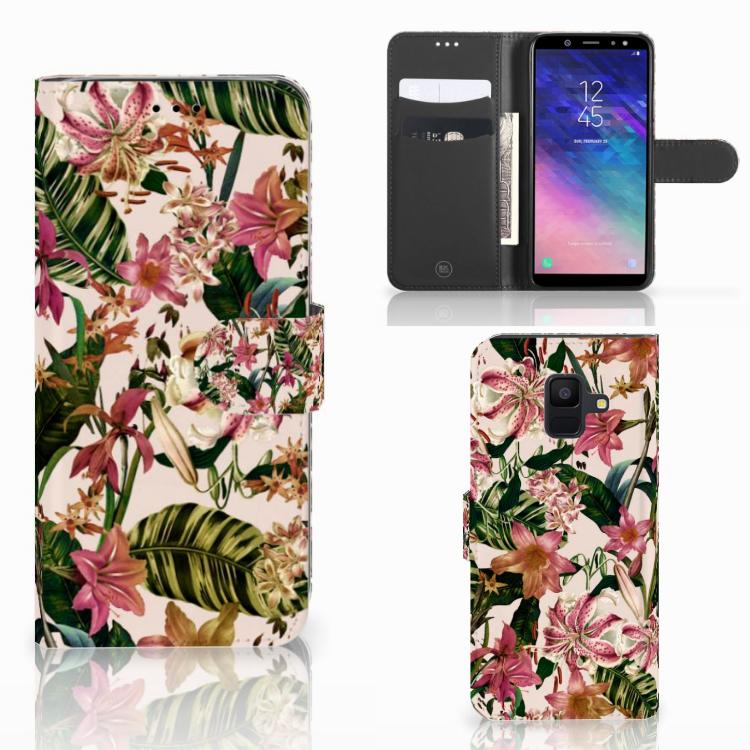 Samsung Galaxy A6 2018 Hoesje Flowers
