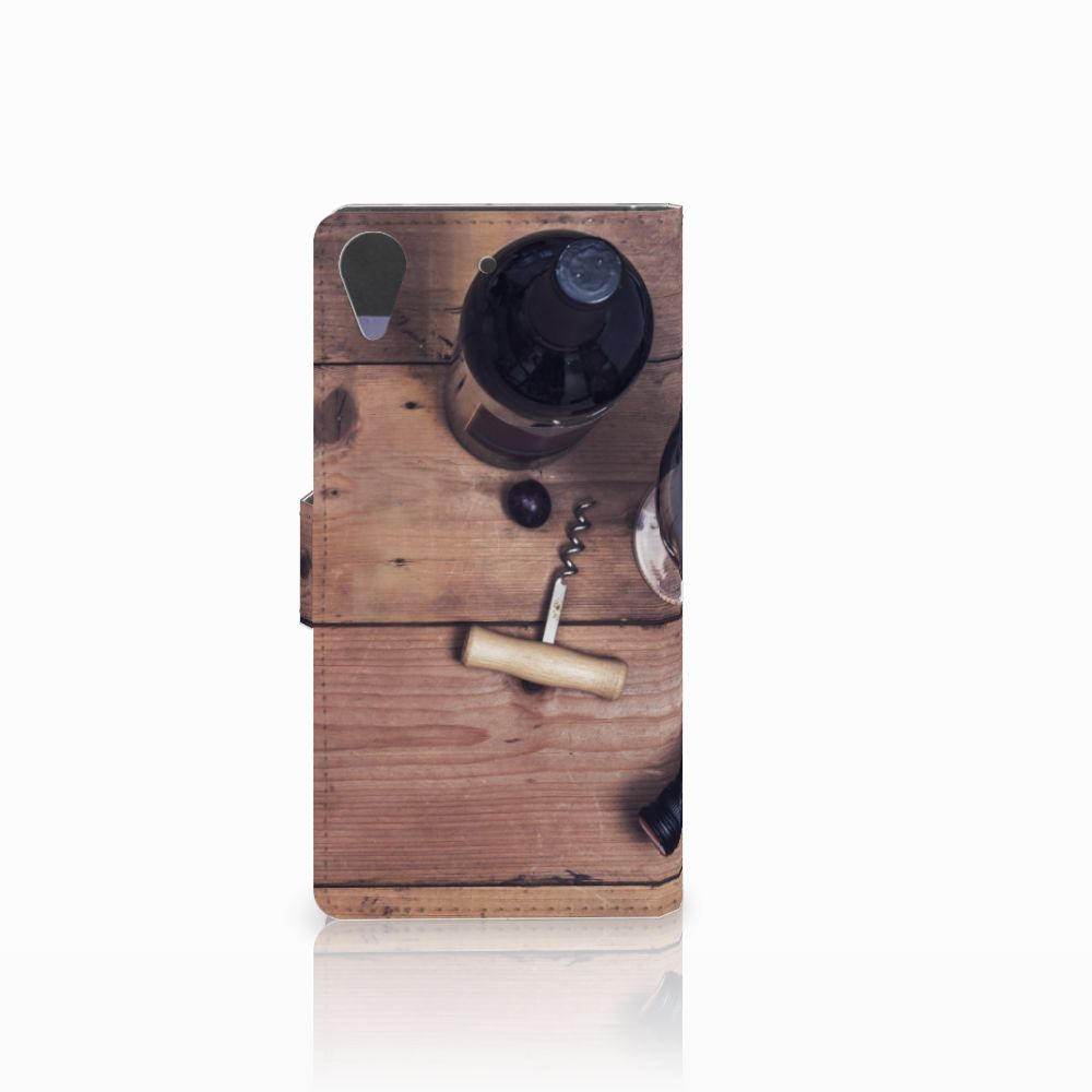HTC Desire 628 Book Cover Wijn