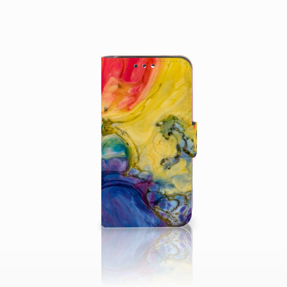 Huawei Y5 Y560 Uniek Boekhoesje Watercolor Dark