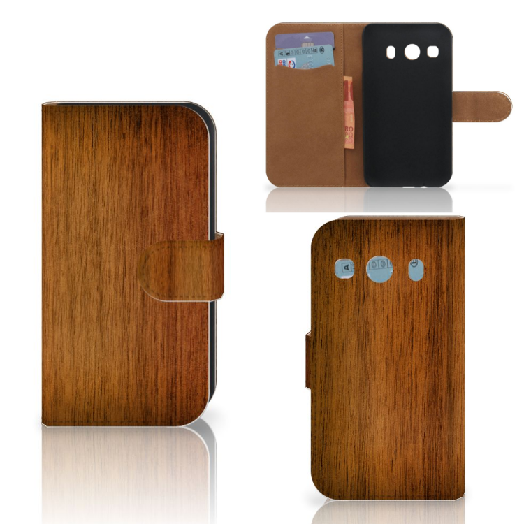 Samsung Galaxy Ace 4 4G (G357-FZ) Book Style Case Donker Hout