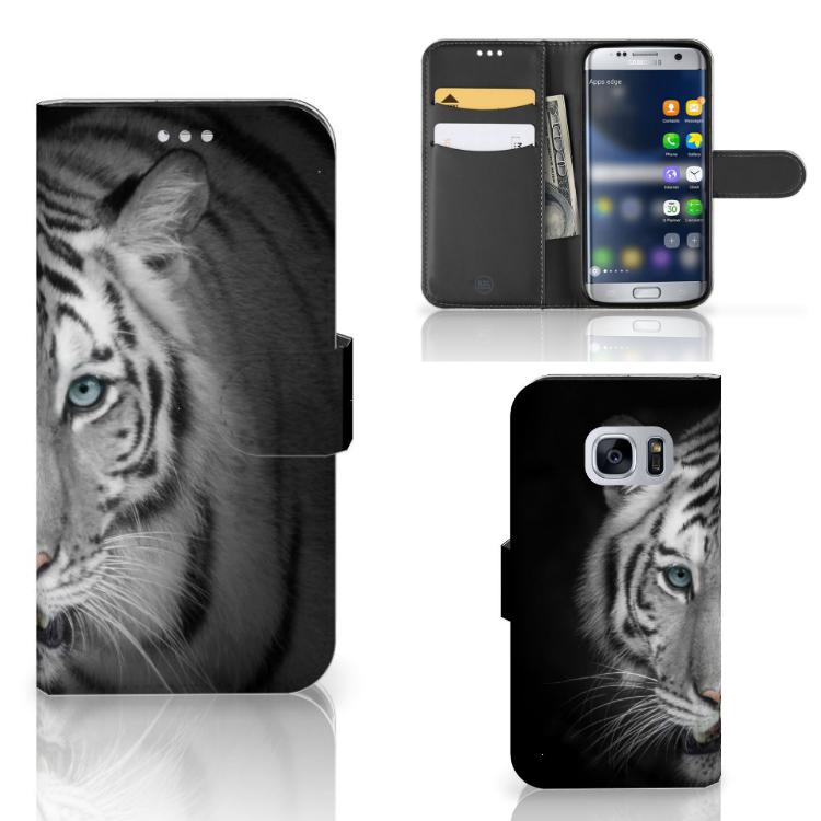Samsung Galaxy S7 Telefoonhoesje met Pasjes Tijger