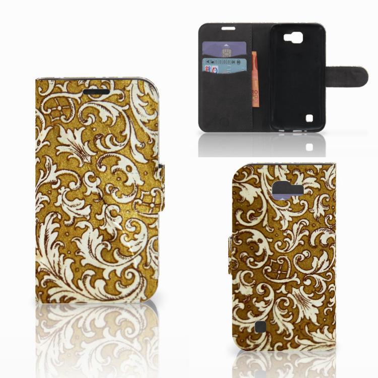 Wallet Case LG K4 Barok Goud