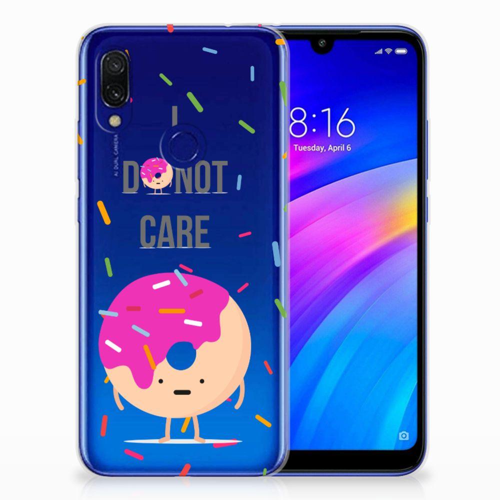 Xiaomi Redmi 7 Siliconen Case Donut Roze