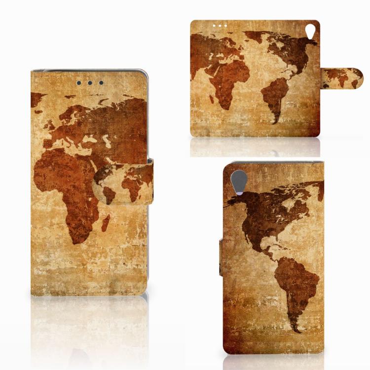 Sony Xperia X Flip Cover Wereldkaart