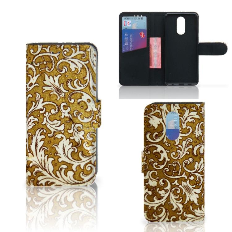 Wallet Case LG Q7 Barok Goud