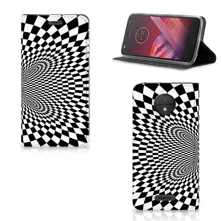 Motorola Moto C Stand Case Illusie