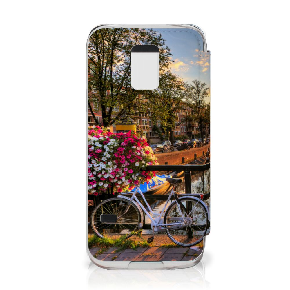 Samsung Galaxy S5 Mini Flip Cover Amsterdamse Grachten