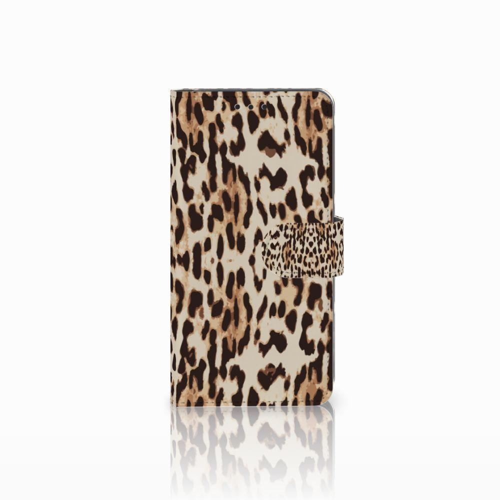 Samsung Galaxy A8 2018 Uniek Boekhoesje Leopard