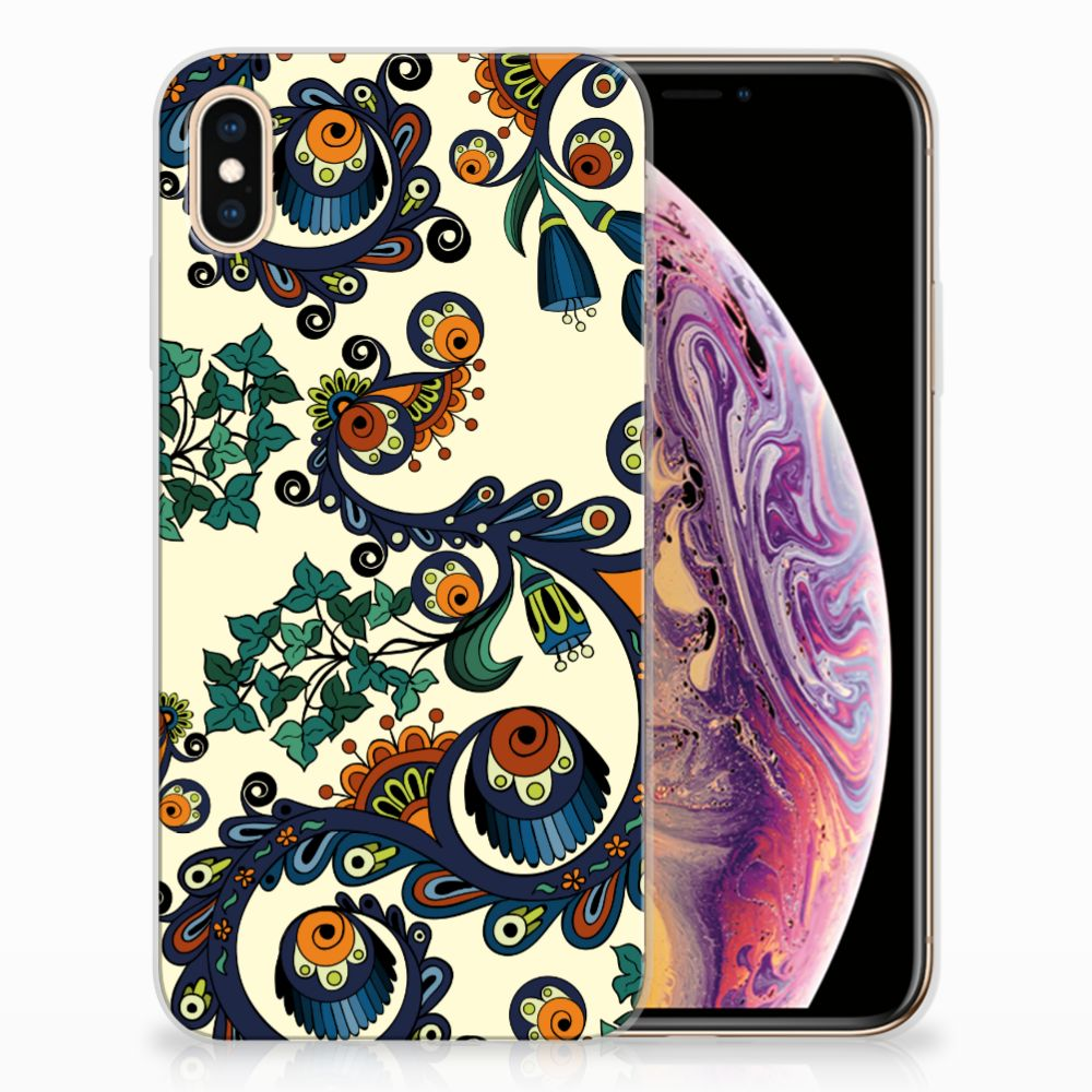 Siliconen Hoesje Apple iPhone Xs Max Barok Flower