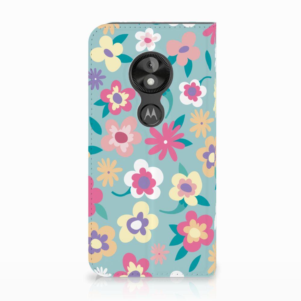 Motorola Moto E5 Play Standcase Hoesje Design Flower Power