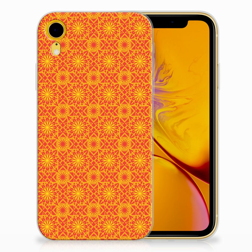 Apple iPhone Xr TPU Hoesje Design Batik Orange