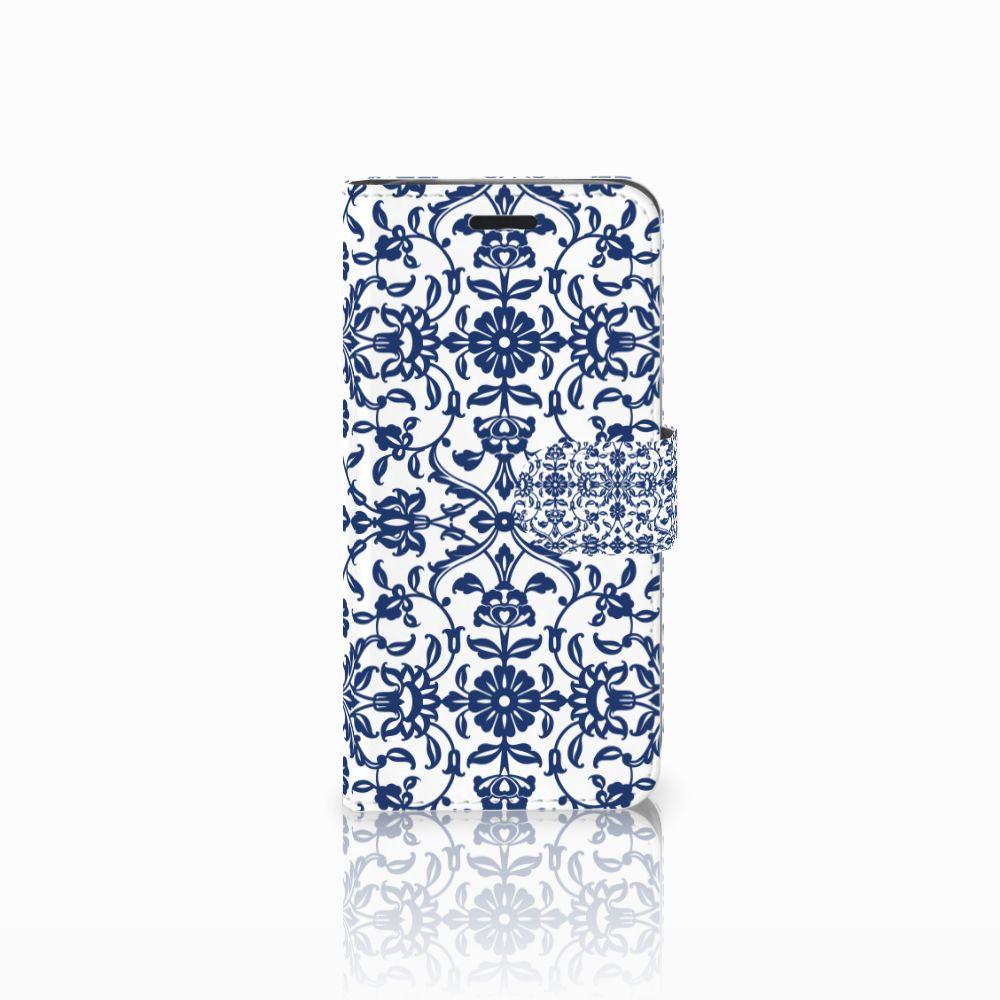 Acer Liquid Z530 | Z530s Uniek Boekhoesje Flower Blue