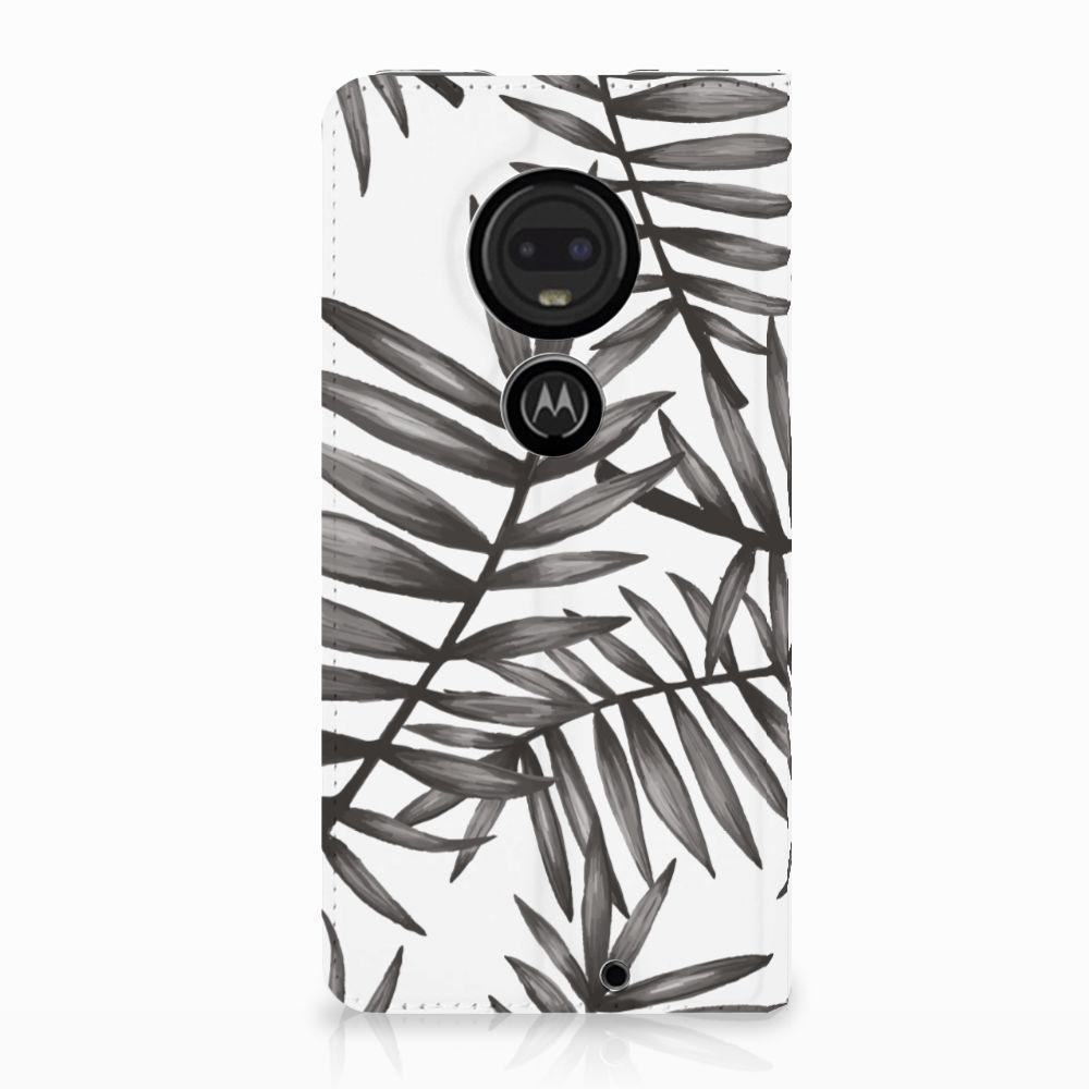 Motorola Moto G7 | G7 Plus Uniek Standcase Hoesje Leaves Grey