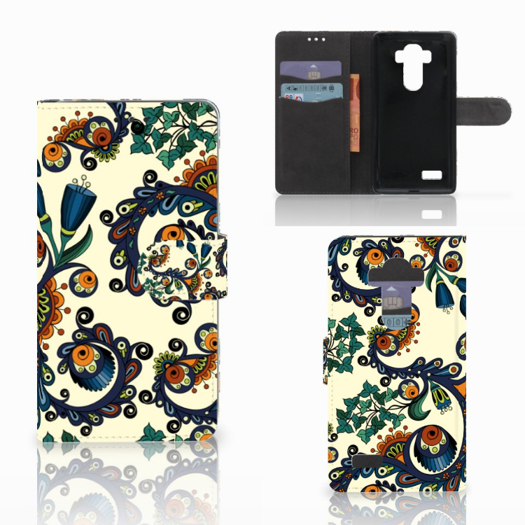 Wallet Case LG G4 Barok Flower