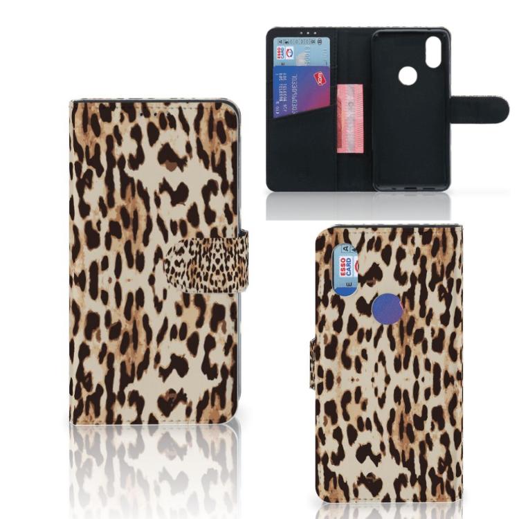 Xiaomi Mi Mix 2s Telefoonhoesje met Pasjes Leopard