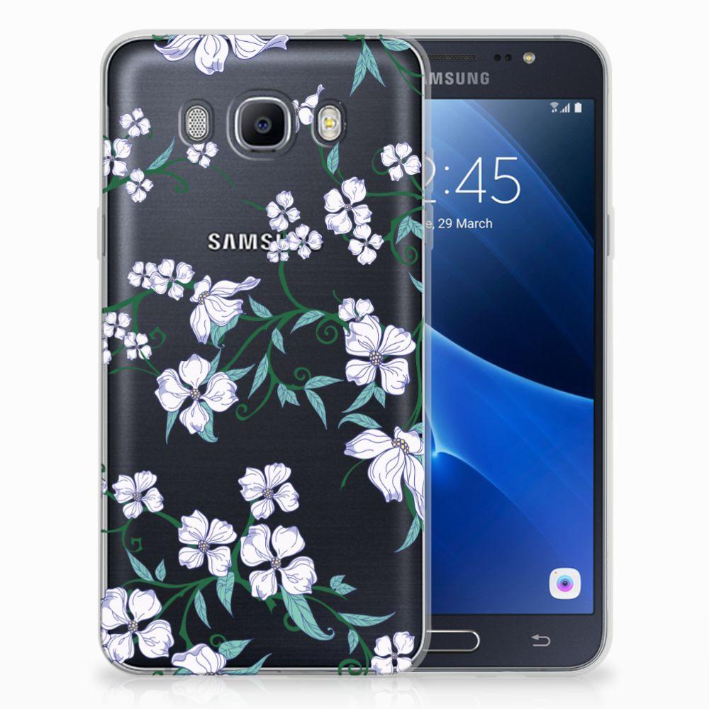 Samsung Galaxy J7 2016 Uniek TPU Hoesje Blossom White