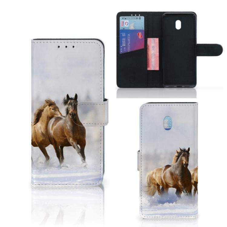 Xiaomi Redmi 8A Telefoonhoesje met Pasjes Paarden