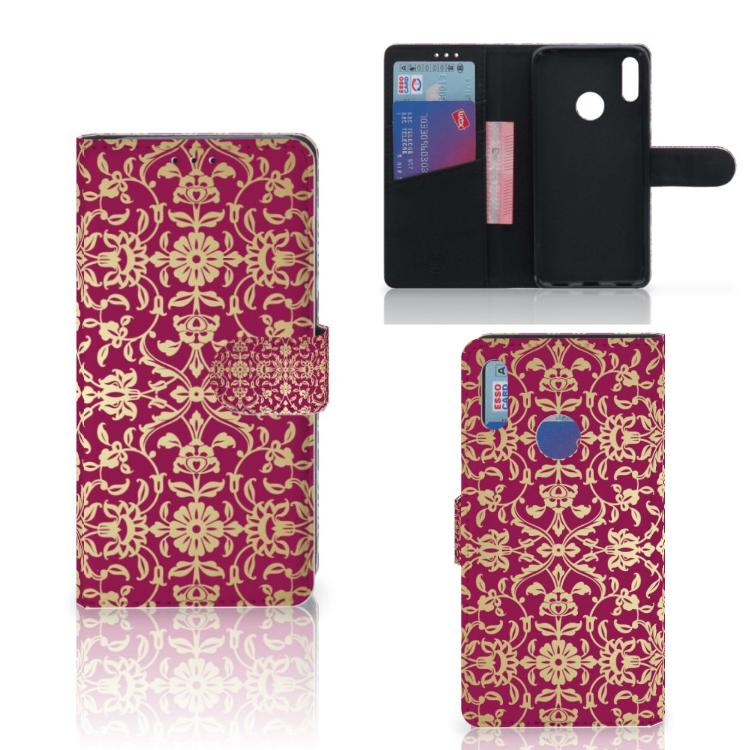 Wallet Case Huawei Y7 Pro | Y7 Prime (2019) Barok Pink