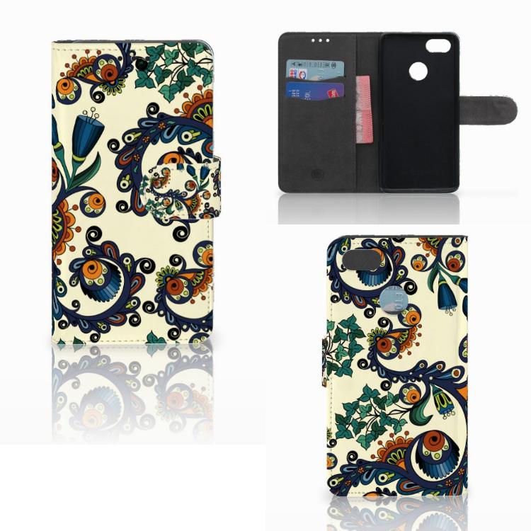 Wallet Case Huawei Y6 Pro 2017 Barok Flower