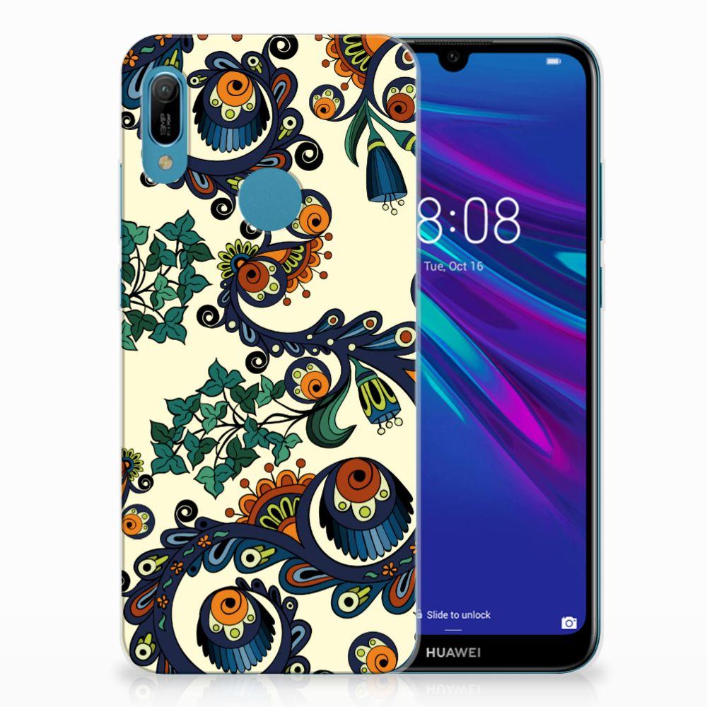 Siliconen Hoesje Huawei Y6 2019 | Y6 Pro 2019 Barok Flower