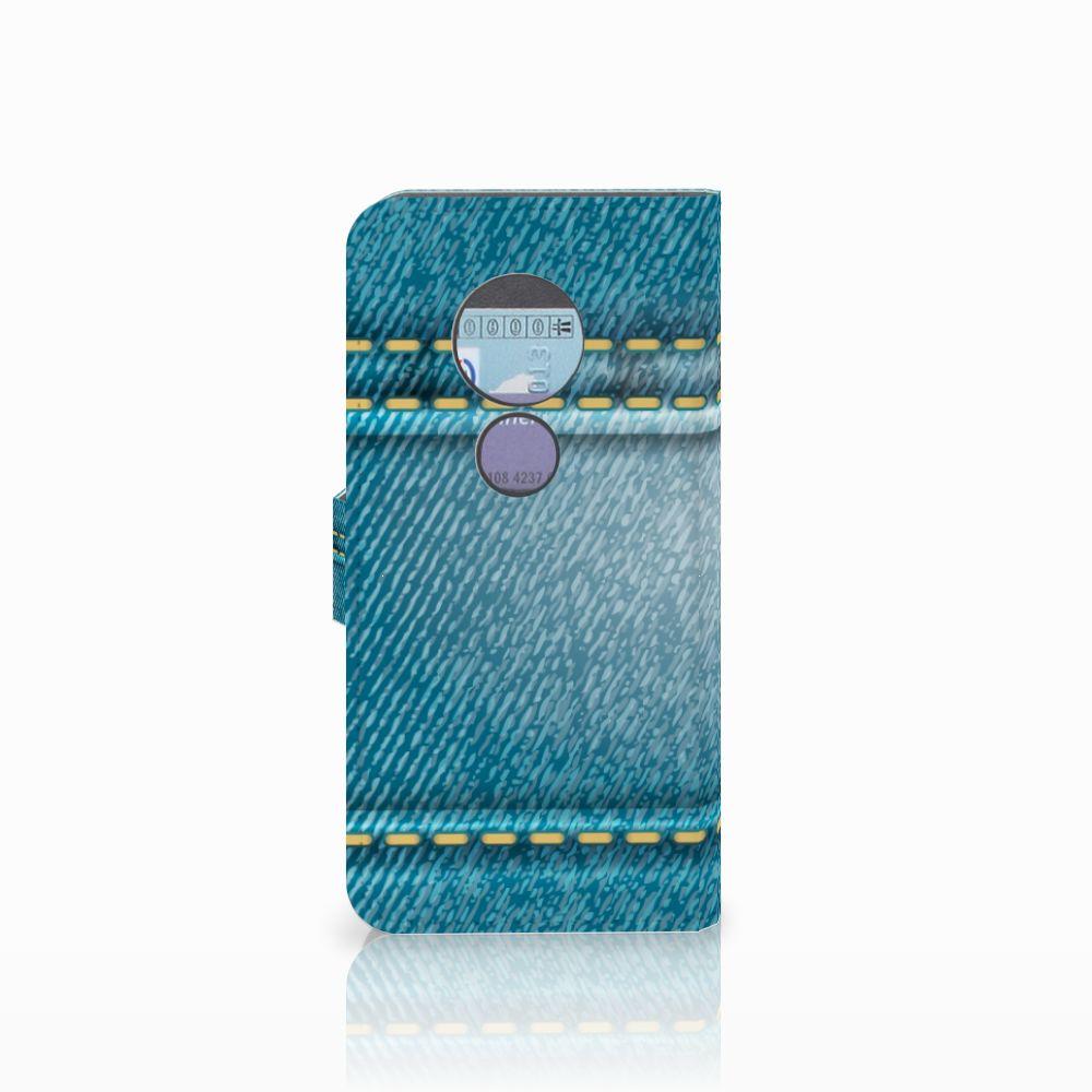 Motorola Moto G6 Play Wallet Case met Pasjes Jeans