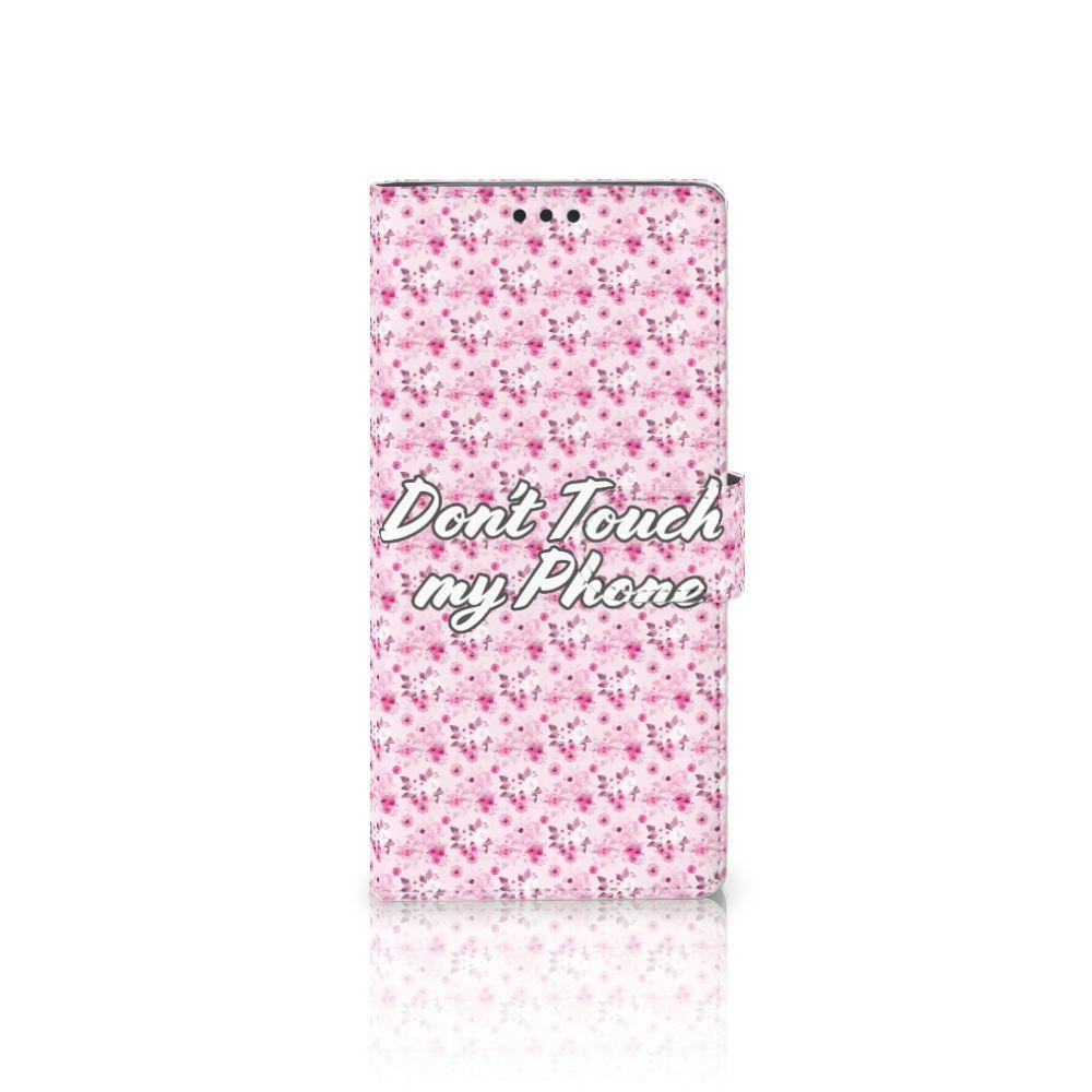 Sony Xperia XA Ultra Uniek Boekhoesje Flowers Pink DTMP